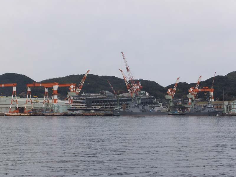 長崎の造船所