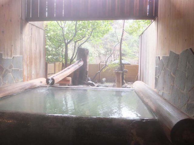 雲仙福田屋 丸太ん棒の湯