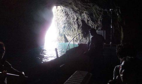 青の洞窟の明るさ