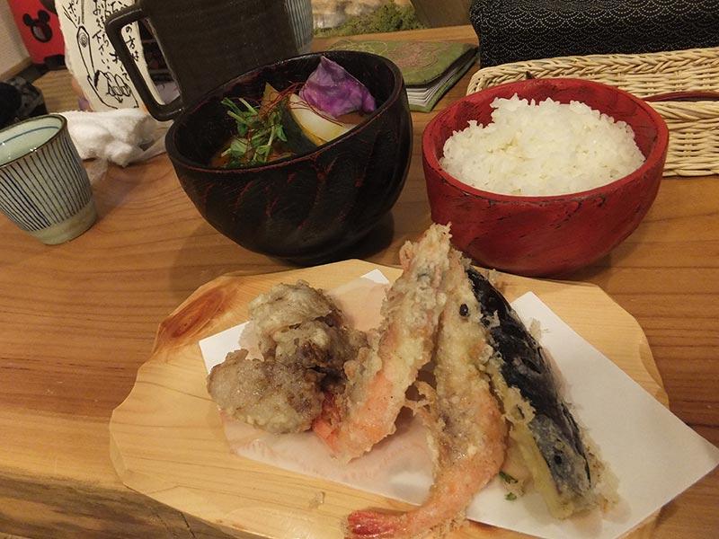 天ぷらカレー