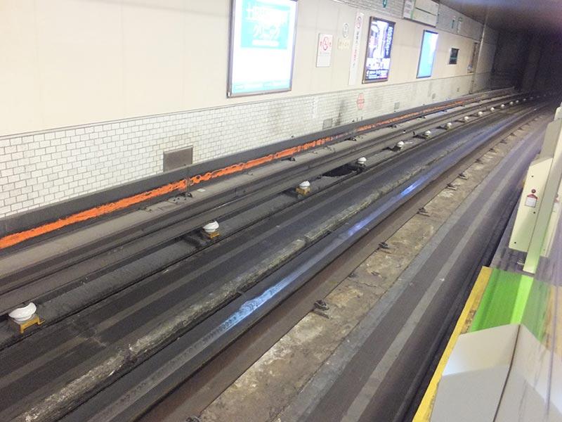 札幌地下鉄のレール