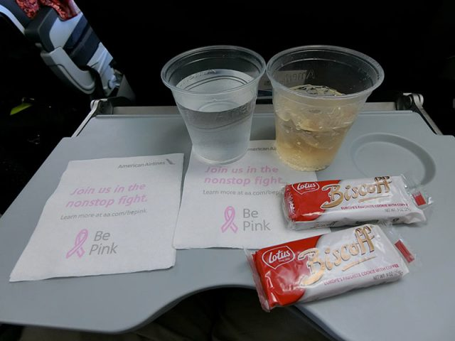 アメリカン航空のお菓子サービス