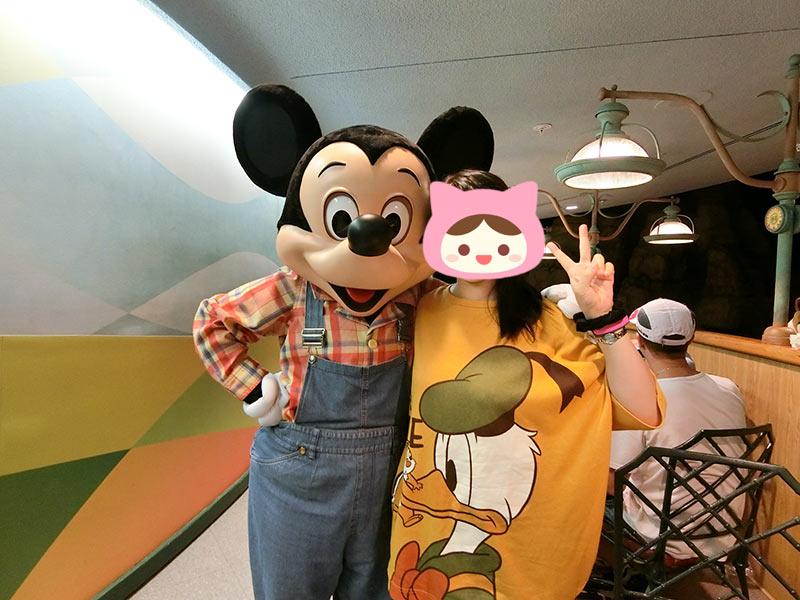 ミッキーと写真