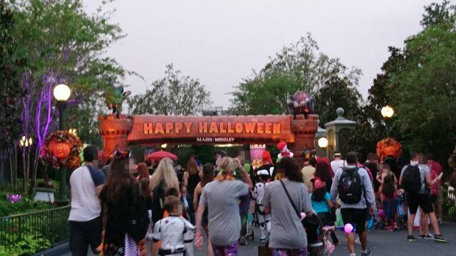ハロウィンパーティー専用の入り口