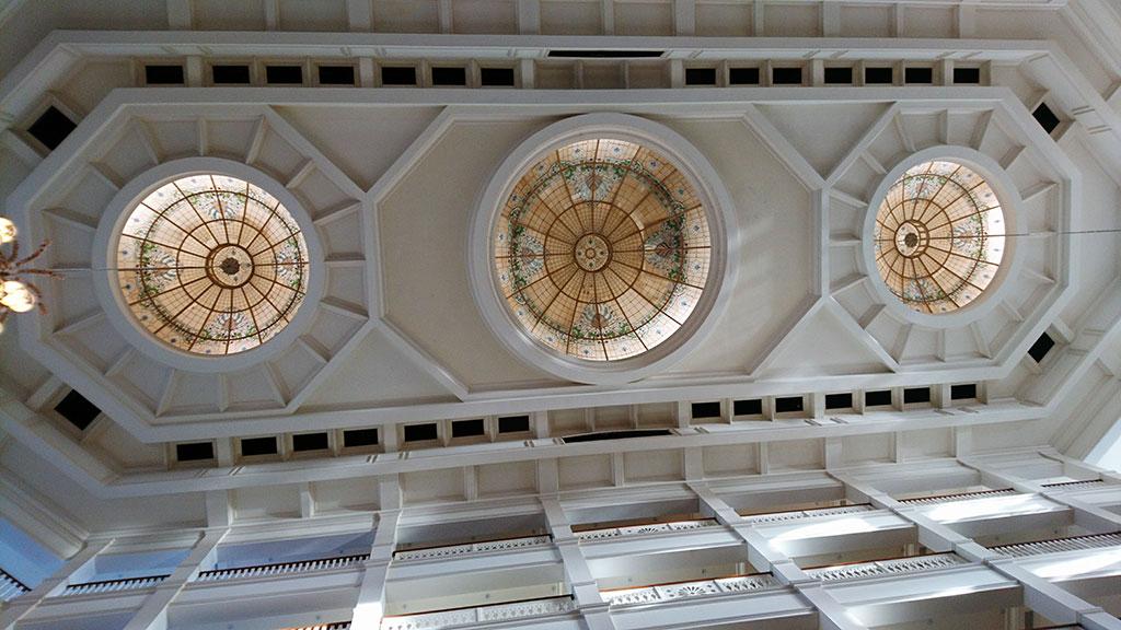 天井の模様もきれいです