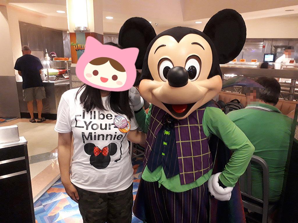 私とミッキー。