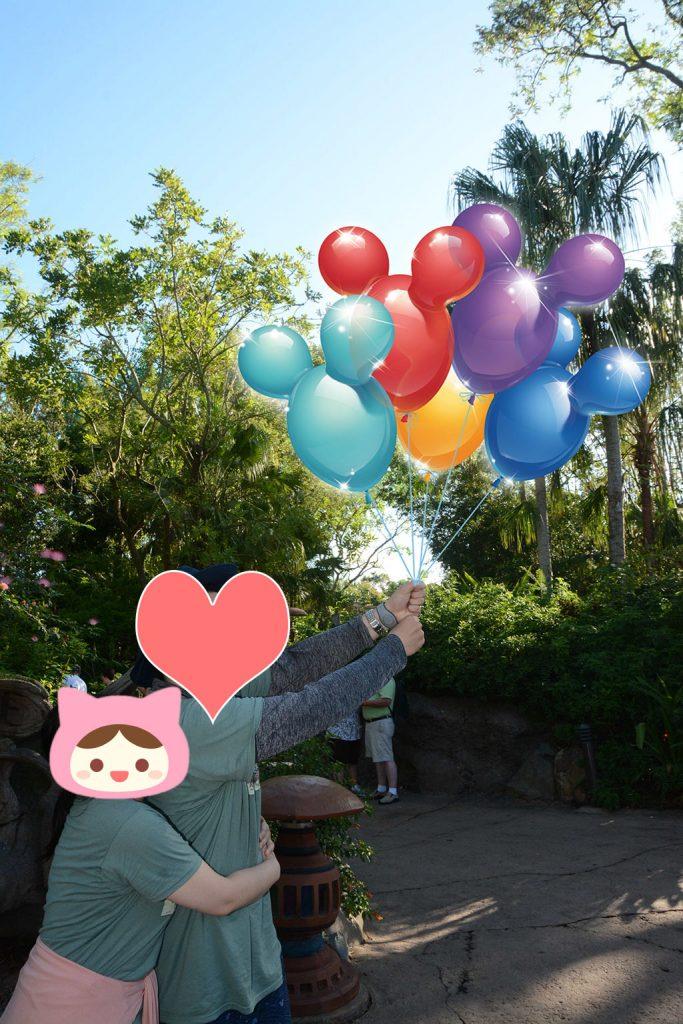 ミッキーバルーンはレアなのでうれしい!